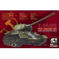 T-34/85 - 1944 Factory 183 - Full Interior Kit w/ Clear Turret and upper hull parts