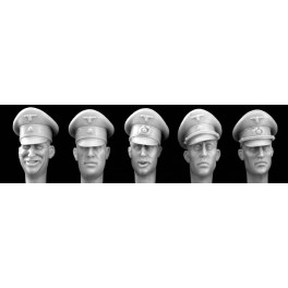 5 heads German Officer Formal Peak Caps