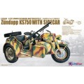 WWII German Zundapp KS750 Motorcycle with Side Car