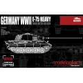 German WWII E-75 Heavy Tank with 88mm gun