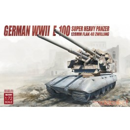 German WWII E-100 Super Heavy Panzer with 128mm Flak 40 Zwilling