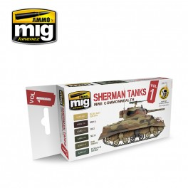 WWII Commonwealth Sherman Tanks Colors Set