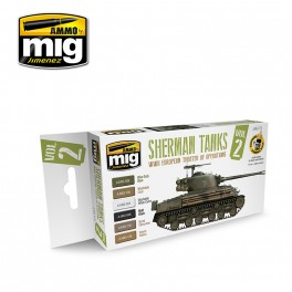WWII European Theater of Operations Sherman Tanks Colors Set