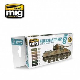 WWII US Marines Corps Sherman Tanks Colors Set