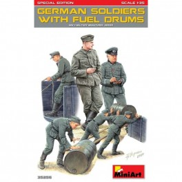 German Soldiers with Fuel Drums (5 fig.)