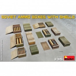 Soviet Ammo Boxes with Shells 1/35