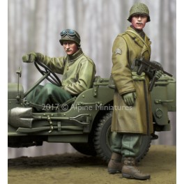 WW2 US NCO & Driver  Set - 2 Figs