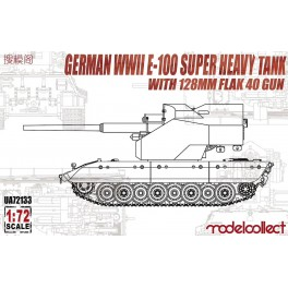 German WWII E-100Super Heavy Tank with 128mm Flak40 Gun