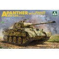 PRE-ORDER WWII Sd.Kfz.171/267 Panther A Mid/late production w/ Zimmerit/ full interior kit 2 in 1