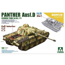 WWII Sd.Kfz.171/267 Panther D Early/Mid production 2 in 1 Full Interior w/ Transparent Shell