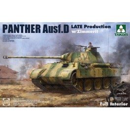 WWII Sd.Kfz.171/267 Panther D Late production Full Interior w/ Zimmerit