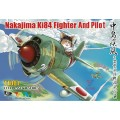 Cute Japanese KI84 Fighter + Pilot