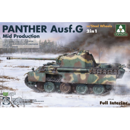 WWII German medium Tank Panther Ausf.G mid. prod. w/ Steel Wheels 2in1