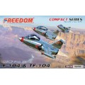 F-104 and TF-104 USAF Star Fighter - Compact Serie - 2 KITS