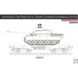 JagdPanther G1 Early w/ Zimmerit & Schwerer PlattFormWagen Type SSyS