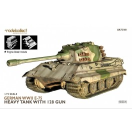 German WWII E-75 Heavy Tank with 128 gun Incuding Engine Detail