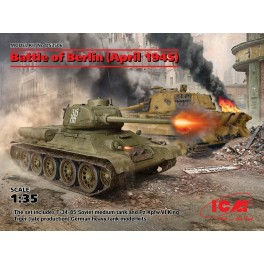 Battle of Berlin (T-34-85 AND Pz.Kpfw.VI King Tiger Late)