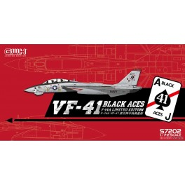 """US Navy F-14A VF-41 """"Black Aces"""" w/ special Photodecoupe & Decals EDITION LIMITÉE"""