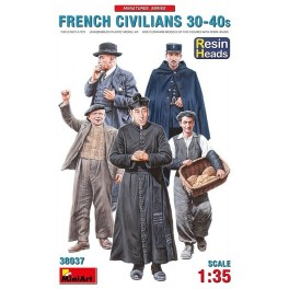 French Civilians '30-'40s - Resin Heads (5 Figs.)