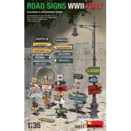 Road Sign WW2 Italy