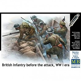 British Infantry before the Attack, WWI Era