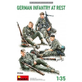 German Infantry at Rest  (4 Figs.)