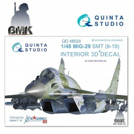 Mig-29 SMT (9-19) (for GWH) INTERIOR 3D* Decal 1/48