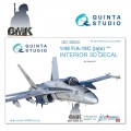 F/A-18C late (for KINETIC) INTERIOR 3D* Decal 1/48