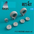 P-51 Mustang Wheels Set 1/72