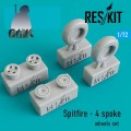 Spitfire - 4 Sproke Wheels Set 1/72