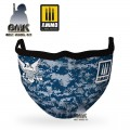 "AMMO FACE MASK ""Navy Blue Camo "" (Hygienic protective mask 100% polyester)"