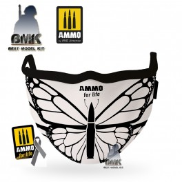 AMMO for Life Butterfly Face Mask (Hygienic protective mask 100% polyester)