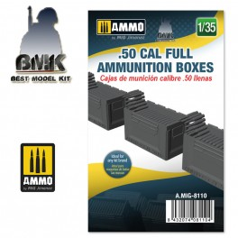 1/35 .50 cal Full Ammunition Boxes