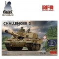 British Main Battle Tank Challenger 2 with Workable Tracks