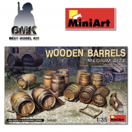 Wooden Barrels Medium Size