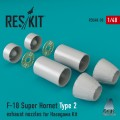 F-18 Super Hornet Type 2 Exhaust Nozzles for Hasegawa 1/48