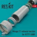 Mirage F.1 Exhaust Nozzles for Kitty Hawk 1/48