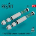 F-14D Tomcat CLOSED Exhaust Nozzles for AMK 1/48