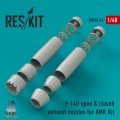 F-14D Tomcat CLOSED & OPEN Exhaust Nozzles for AMK 1/48