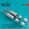 F-14D Tomcat CLOSED Exhaust Nozzles for Hobby Boss 1/48