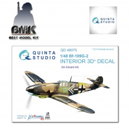 Bf-109-G-2 (for EDUARD) INTERIOR 3D* Decal 1/48