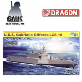 U.S.S. Gabrielle Giffords LCS-10 with Naval Strike Missiles