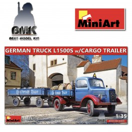 German Truck L1500S with Cargo Trailer