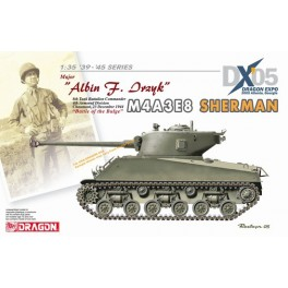 "M4A3E8 sherman Major Albin F.Drayk - 8th Battalion Commander - 4th Armored Division - Chaumont - 23 dec. 1944 ""Battle of Bulge"""