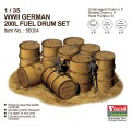 GERMAN 200L FUEL DRUM SET  WWII