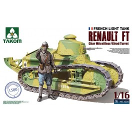 FRENCH LIGHT TANK RENAULT FT char canon with Girod turret