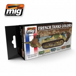 French Tanks Colors Set